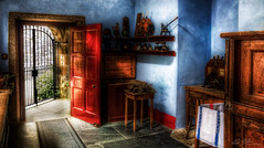 The Scullery Door (Paul R. Boon) Tags: kitchen cornwall national trust nationaltrust hdr lanhydrock photomatix tonemapping scullery