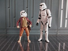 """Gandalf said nothing about a height restriction."" (Frog Princess66) Tags: toys starwars kodak stormtroopers actionfigures bilbobaggins deathstar easyshare stormies arentyoualittleshortforastromtrooper"
