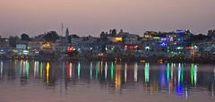 Pushkar Sarovar lights (Sapna Kapoor) Tags: light india worship pushkar rajasthan ghat holyplace sarowar