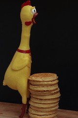 Chicken and Waffles.. (catherine4077) Tags: food fun rubber rubberchicken waffles