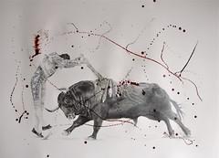 El Banderilleros 1 (www.kevinmaxwellsfineart.com) Tags: bulls bullfighting josetomas graphite chinagraph blood anegitive blackandwhite toros torosymatadores matadores drawing spanish espana banderilleros