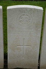 R. Wilkinson, Northumberland Fusiliers, 1915, War Grave, Poperinghe (PaulHP) Tags: ww1 world war 1 first graves marker grave headstone military cemetery belgium r ralph wilkinson private service number 9420 24th february 1915 northumberland fusiliers 3rd bn battalion poperinghe old newcastle newcastleontyne