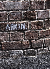 Spent matches. (Avian Sky) Tags: graffiti matches litter wall bricks aviansky canon 7d 40mm urban street