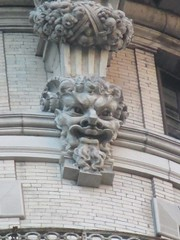 Satyr Gargoyles - The Ansonia Apartment Building 4027 (Brechtbug) Tags: satyr gargoyles the ansonia apartment building now condo upper west side new york city 2109 broadway between 73rd 74th streets built 1899 opened 1904 beaux arts architectural style mansard roof architect paul e m duboy featured 1992 film single white female bridget fonda jennifer jason leigh home pogo cartoonist disney animator walt kelly mobster arnold rothstein athletes jack dempsey babe ruth 8222016 nyc 2016