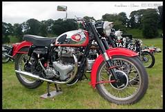 BSA Super Rocket (zweiblumen) Tags: bsasuperrocket 1960 classic vintage motorcycle ternvalleyvintagemachinerytrust chetwynddeerpark edgmond newport shropshire england uk canoneos50d canonspeedlite430exii polariser zweiblumen tas903 photoshopcs4
