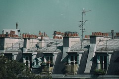 (Manuela Pace) Tags: toits roofs paris sky line art colors vintage