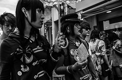 . (robbie ...) Tags: japan tokyo takeshita street harajuku fashion area black hair badges stars hairstyle ricoh gr 28mm