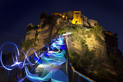 Painting Bagnoregio with light (Luca Romano) Tags: light lightpainting lightstudy lightblade lights outdoor bagnoregio landscape lazio nocturne longexposure longtime lovely trails travel travelling destination viaggio viaggiare