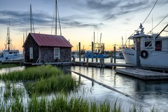High tide at Shem Creek (Curtis Cabana Photography) Tags: shemcreek mountpleasant hightide charleston southcarolina tidalcreek shrimpboats river hdr photomatix