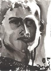 icke, tusche 2005 (JENS01) Tags: zeichnung kohle papier bleistift drawing sketching painting malerei skizze sketchbook art kunst graphite pencildrawing paperwork urban doodle l oil tusche portrait