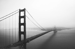 87 (Marine Barian) Tags: sanfrancisco bay goldengate goldengatebridge bride blackandwhite outdoor bw landscape fog
