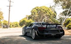 Matte. (Alex Penfold) Tags: porsche 918 matte black supercars supercar super car cars autos alex penfold 2016 mecum carweek week america usa