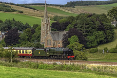 LMS Royal Scot Steam Engine Stow Scottish Borders (Colin Myers Photography) Tags: lms royal scot steam engine train stow scottish borders railway steamtrain steamengine church st mary wedale stmarywedale stowchurch bordersrailway scotland colin myers photography colinmyersphotography