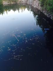Tlt kaivettiin lentokentn pohjaa (Versacrum) Tags: vantaa suomi finland pond manmade mine noplace antiplace lampi water rock cliff jyrknne urbex urbanexploration
