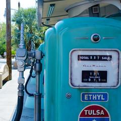 Gas Pumps (Kevin MG) Tags: usa orangecounty anaheim disney dlr scenery sign blue attractions attraction californiaadventures amusementpark california