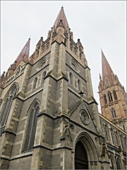 St Pauls Cathedral (Mary Faith.) Tags: religion holy historic cathedral church melbourne australia stone