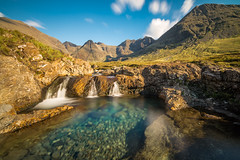 The Fairy Pools of Glen Brittle in the shadow of the Cuillin (Stephen Brown Images) Tags: fairy pools glen brittle isle skye scotland inner hebrides highlands uk united kingdom europe mountain mountains waterfalls long exposure nd1000 clouds sky summer landscape