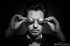 Spoons or glasses? That is the question... (tione76) Tags: noir blanc nb bw black white portrait autoportrait original glasses spoon object tione76 nikon d5300 contraste contrast monochrome eyes