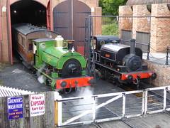 A Peckett and a Vulcan (Terry Pinnegar Photography) Tags: beamish museum countydurham steam train locomotive shunter peckett 1370 r2 yatesduxburysons jubileelocomotivecompany vulcan 3272
