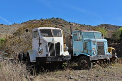 Gold King Mine & Ghost Town (USautos98) Tags: 1952 autocar coe cabover truck kenworth bullnose tractortrailer
