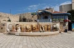 Zodiac Fountain in Jaffa, Israel (Esther Spektor - Thanks for 11+ millions views..) Tags: jaffa israel zodiacfountain architecture sculpture square building wall balcony window pavement stone sign sky city estherspektor canon