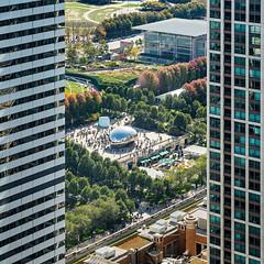 In The Middle (Michael Muraz) Tags: 2015 chicago cloudgate il illinois millenniumpark northamerica usa world bean building city cityscape park skyscraper town unitedstates us