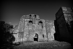Wolvesey Castle (Crisp-13) Tags: wolvesey castle ruin wall black white monochrome winchester hampshire