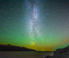 Accidental Aurora (panzergrenadierphotography) Tags: milky way northern lights aurora borealis milkyway northernlights auroraborealis stars space planets constellations outer outerspace alaska usa ak nikon d7100