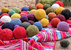 llama wool ready to use (sussexscorpio) Tags: wool llama colours colors peru southamerica bright ball round circle