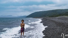 The boy and the beach. (Lock, stock and 2 smoking barrels!!) Tags: dingalanaurora sonyalpha57 dingalan philippines beach boy water