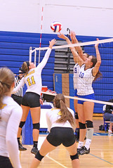 IMG_5157 (SJH Foto) Tags: girls volleyball high school lancaster mennonite pa pennsylvania team tween teen teenager varsity net battle spike block action shot jump midair favourite