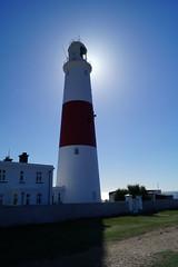 Portland Bill (Rob Hall -) Tags: lighthouses lighthouse backlit backlight sunshine sunlight sun shine glare sea blue seaside serenity serene tower white red portland portlandbill uk england dorset