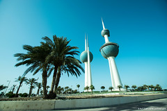 ..date trees.. (asifshah.com) Tags: kuwait city towers architecture landmark day blue sky cityscape