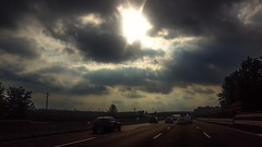 Back home (darioseventy) Tags: highway autostrada backlight controluce sun sole clouds nuvole sunbeams