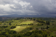 Green (Phil_Mercer) Tags: sky clouds green sunlight view scenery italy tuscany san gimignano