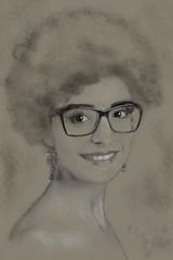 Ritratto fiore (Dino57) Tags: ritratto disegno pencil draw