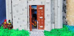 Weyworth Keep (Robert4168/Garmadon) Tags: lego guildsofhistorica weyworthkeep uridiusdratiphe sir castle mountain snow waterfall river green landscape towers door fisherman interior palace house stable armory smith