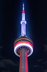 Toronto's Beacon (seango) Tags: cntower cn tower nightphotography torontoskyline toronto 6ix the6 the6ix nightphotos nikon d600 85mm f18 prime lens seango travels travelphotography city streetphotography
