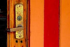 Door handle-X V (Preskon) Tags: nature wood metal aurorail