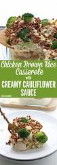 Chicken Brown Rice C (alaridesign) Tags: chicken brown rice casserole with creamy cauliflower sauce