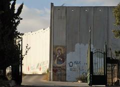 """Palestine, Bethlehem, """"Lady of the wall"""" (sebd_ch) Tags: palestine bethlehem wall"""