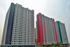 Apartemen Green Pramuka (BxHxTxCx (more stuff, open the album)) Tags: jakarta building gedung apartemen apartment architecture arsitektur