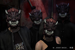 Untitled .  . m.army mask (Untitled Store SL) Tags: mr robot dark army second life sl untitled tmd events white rose mask