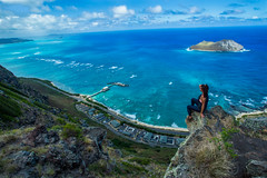 Above Makapu'u (Kelsie DiPerna) Tags: makapuu oahu hawaii landscape outdoors environment cliffs ocean sea islands hawaiianislands blue mountains hiking active