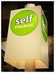 Day 275 - Self Checkout (Free 2 Be) Tags: end dailyphoto postaday finishline project365 365 photoaday sign checkout