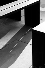 light strip (Ina Hesmer Fotografie) Tags: detail abstract hafencity hamburg outdoor bench light shadow black white seat