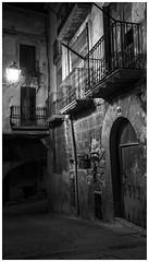 Carrers dHorta Sant Joan (steelmancat) Tags: bw bn horta sant joan street carrer plaa place square urban rural terra alta catalunya