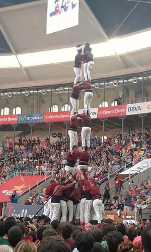 Intent de torre de 8 amb folre dels Xics de Granollers - Tarragona 2016