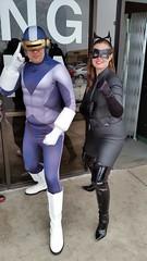 Cyclops and Cat Woman (Adam Antium) Tags: free comic book day cyclops adam antium scott summers cycops cat woman marvel comics books costume cosplay spandex lycra tight tights visor mutant