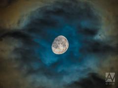 blue moon (Arend Vermazeren) Tags: moon maan bluemoon